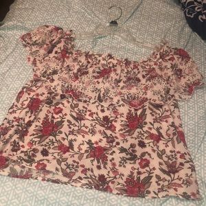 Off the shoulder flower top